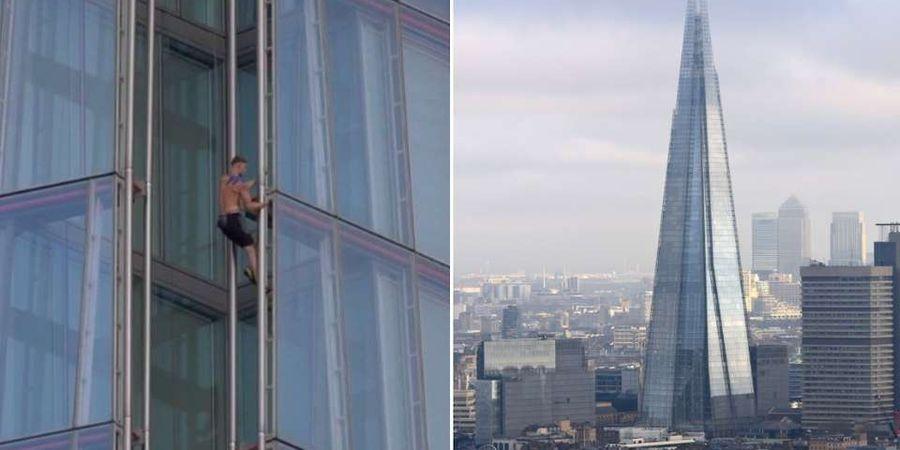 Dahsyat! Pemuda ini Panjat Gedung Tertinggi di London Tanpa Pengaman