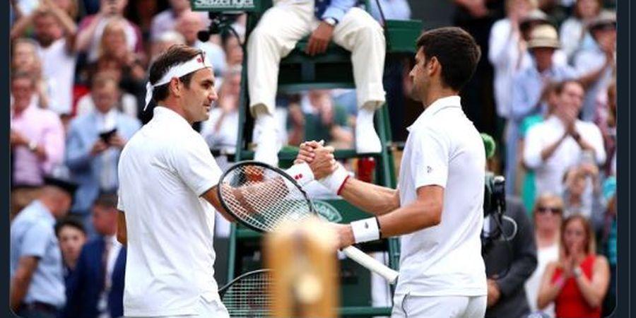 Final Wimbledon 2019 - Novak Djokovic Tumbangkan Roger Federer lewat Laga Luar Biasa