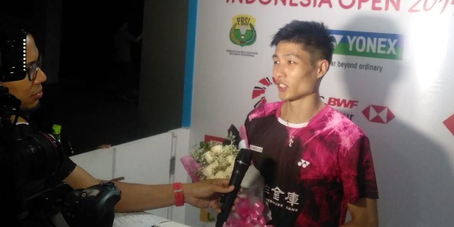 Indonesia Open 2019 - Chou Tien Chen Dapat Bunga dari Fans Indonesia