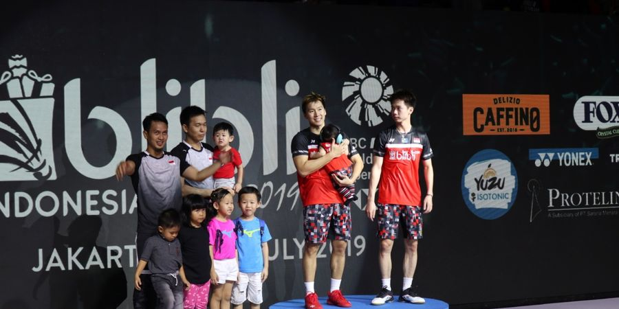 Hasil Final Indonesia Open 2019 - Marcus/Kevin Mengaku Grogi dan Banyak Beruntung Kontra Ahsan/Hendra