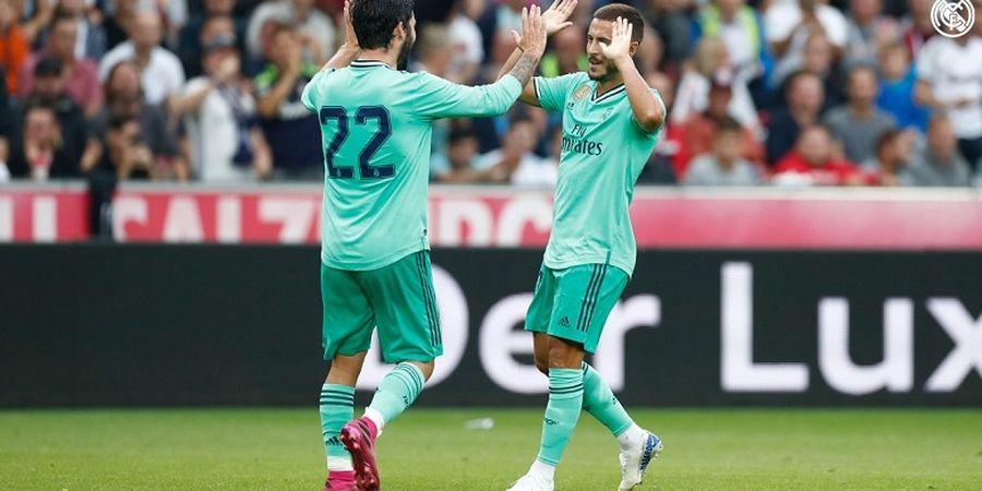 VIDEO - Eden Hazard Cetak Gol Debut untuk Real Madrid dengan Teknik Hafalan