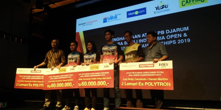 Kevin Sanjaya dan 3 Atlet Junior Dapat Apresiasi Total Rp370 Juta