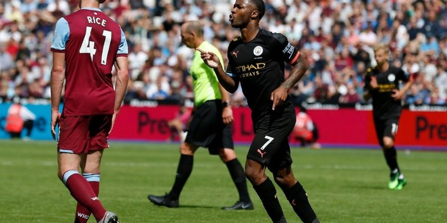Hasil West Ham Vs Man City - Kontroversi Dua VAR dan Hattrick Sterling Warnai Kemenangan Man City