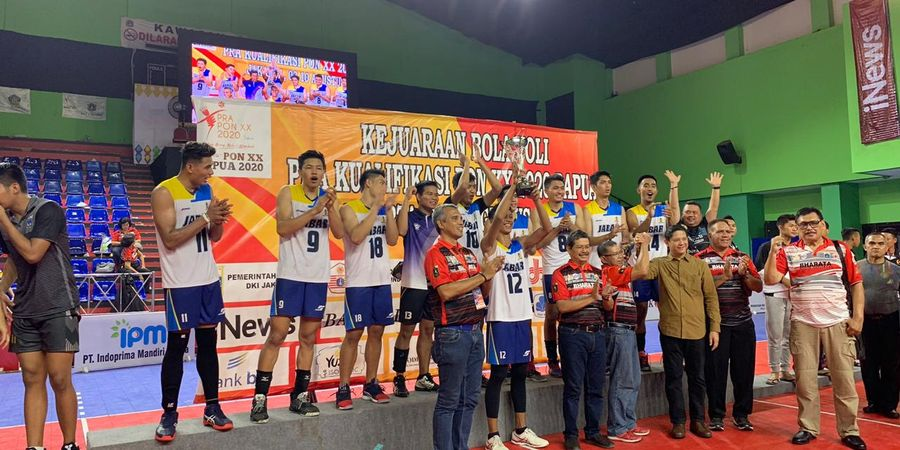 Tim Voli  Putra Jabar Kalahkan DKI Jakarta pada Final Pra-PON