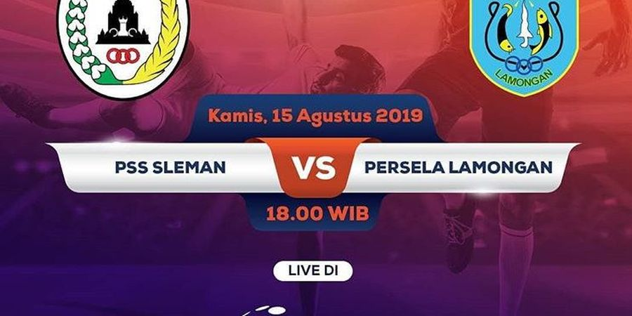 Link Live Streaming PSS Sleman Vs Persela Lamongan