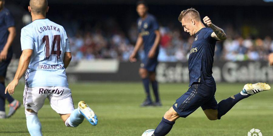 VIDEO - Gol Tembakan Kalem Toni Kroos Bikin Zidane Gosok Jidatnya