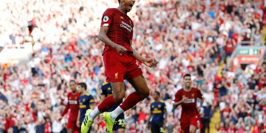 Hasil Babak I - Sundulan Bek Gratis Bawa Liverpool Unggul atas Arsenal