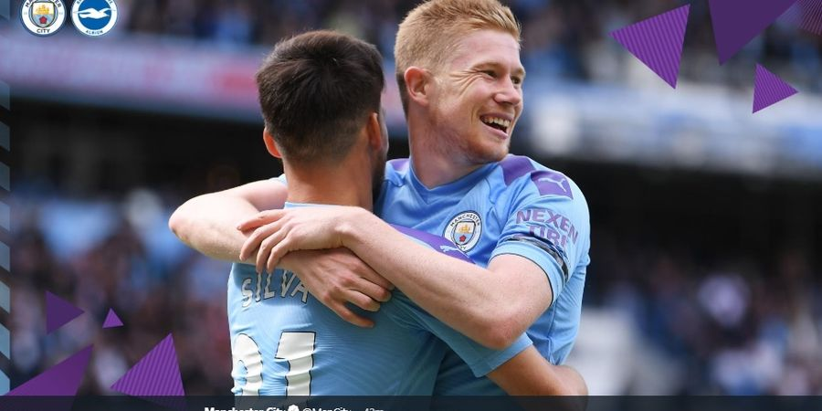 Man City Vs Brighton - The Citizens Unggul 2-0 di Babak Pertama