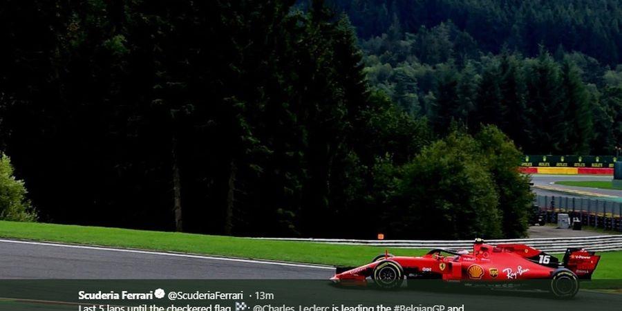 Hasil F1 GP Belgia 2019 - Verstappen DNF, Leclerc Sembahkan Kemenangan Pertama Ferrari
