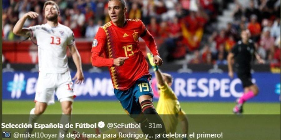 Hasil Kualifikasi Euro 2020 - Hajar Kep. Faroe 4-0, Spanyol Jaga Kesempurnaan