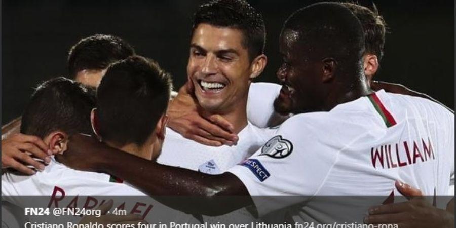 Lawan Lithuania, Ronaldo Ciptakan Sebuah Gol Magis Kocak