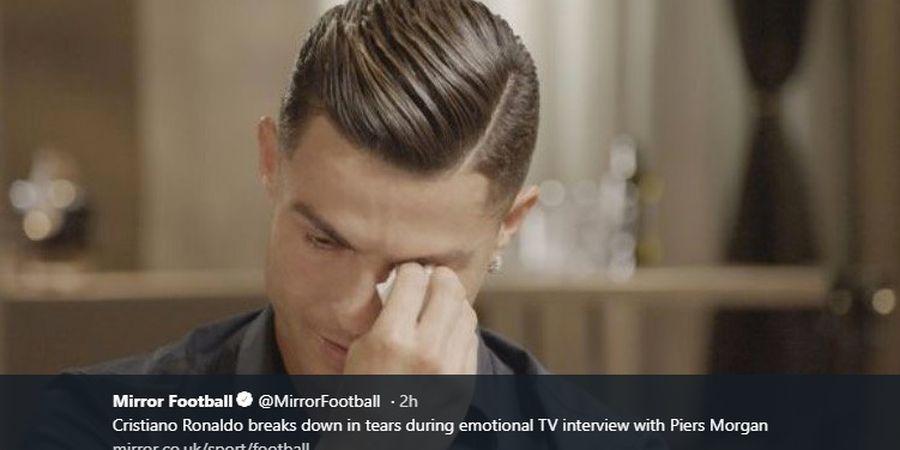 Tangis dan Penyesalan Cristiano Ronaldo saat Melihat Video Sang Ayah