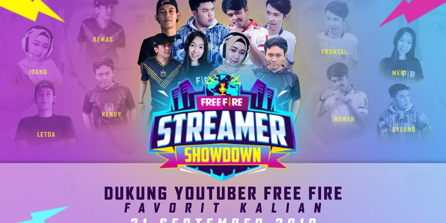 8 YouTuber Perwakilan Indonesia Akan Bertanding Di Free Fire Streamer Showdown 2019, Thailand