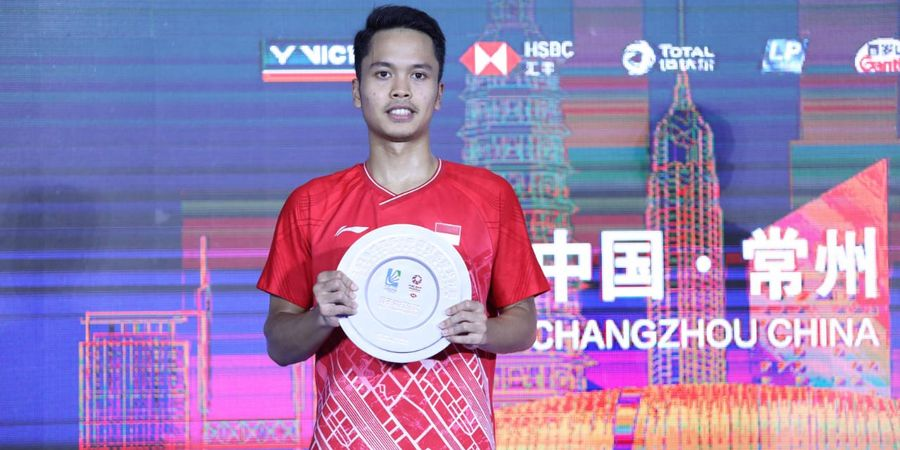 Hasil Final China Open 2019 - Kalah dari Kento Momota, Anthony Ginting Jadi 'Runner-up'