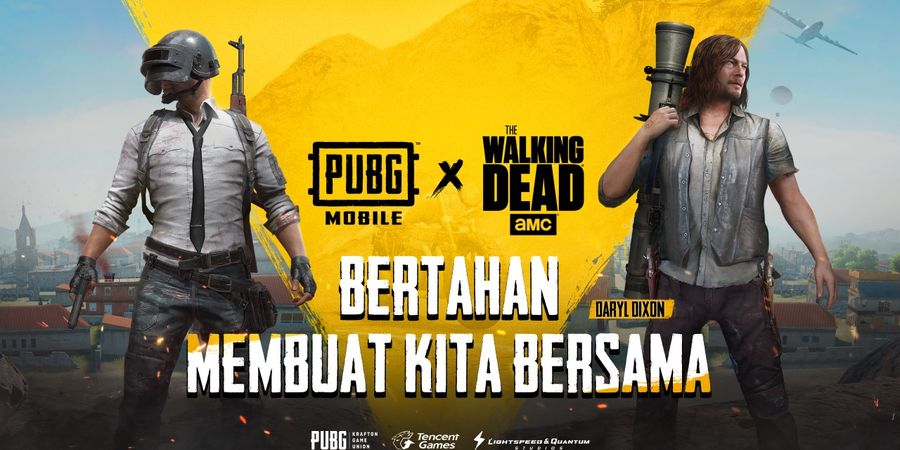 PUBG MOBILE umumkan kerja sama dengan  The Walking Dead