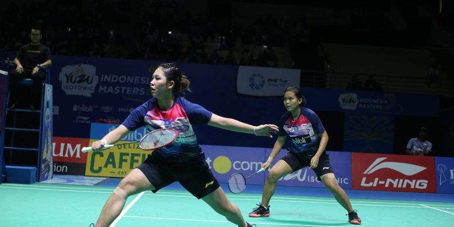Hasil Final Indonesia Masters 2019 - Kalahkan Della/Rizki, Fadia/Ribka Raih Gelar Juara