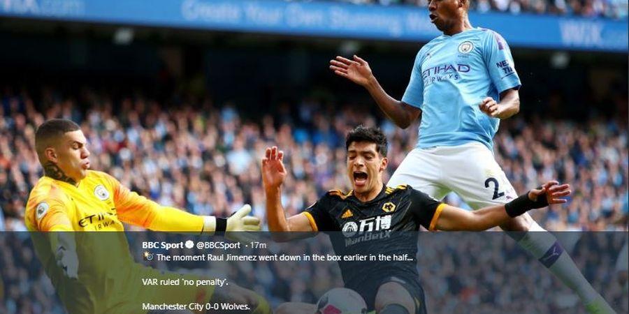 Babak Pertama, Manchester City dan Wolves Sama-sama Mandul