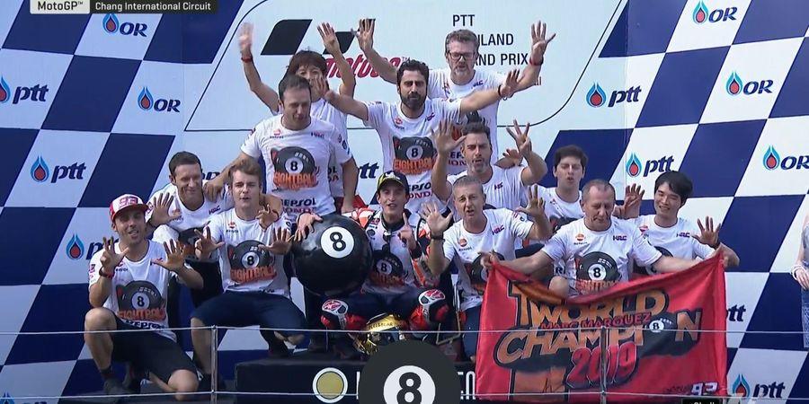 MotoGP 2019 - Bukan One Man Show! Marquez Juara MotoGP 2019 Berkat Kerjasama
