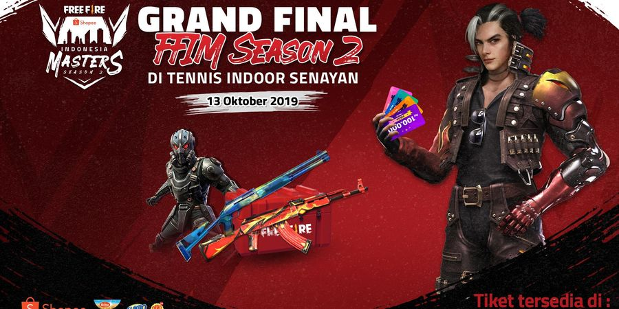 Ramaikan Kick Off Piala Presiden Esports 2020 dan Grand Final Free Fire Shopee Indonesia Masters Season 2 di Tennis Indoor Senayan