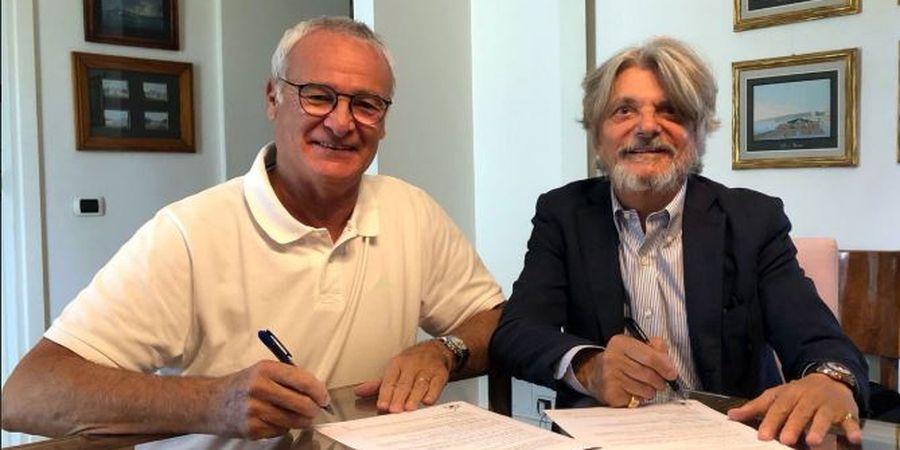 Kembali Melatih, Ranieri Resmi Ditunjuk sebagai Pelatih Baru Sampdoria