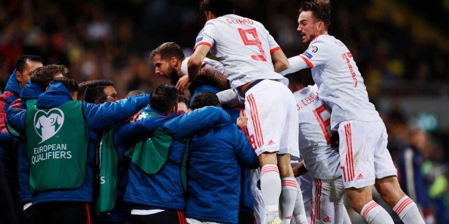 Hasil Kualifikasi Euro 2020 - Kejutan Top Scorer Liga Uni Emirat Arab, Spanyol Lolos