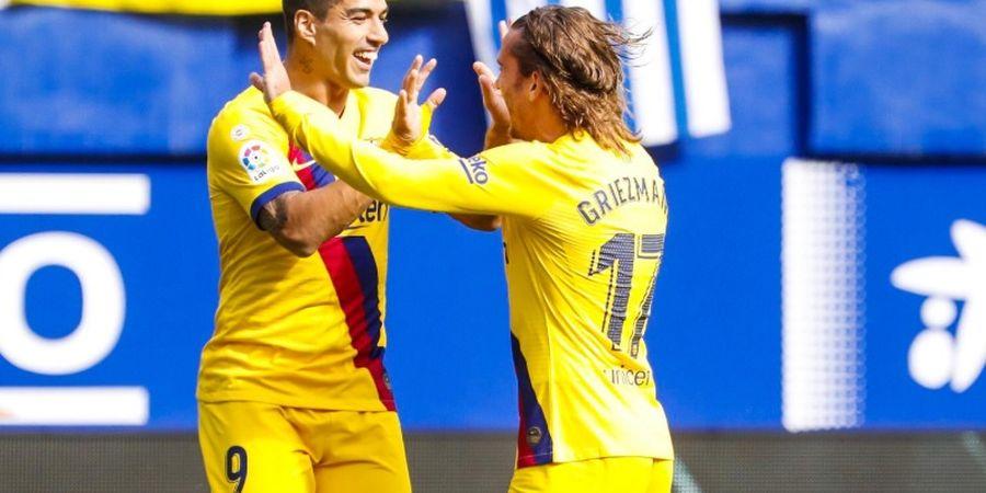Antoine Griezmann Bawa Barcelona Unggul 1-0 Atas Eibar pada Babak I