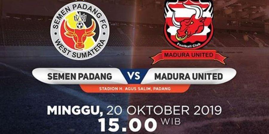 Link Live Streaming Semen Padang Vs Madura United, Laga Pekan Ke-23 Liga 1 2019