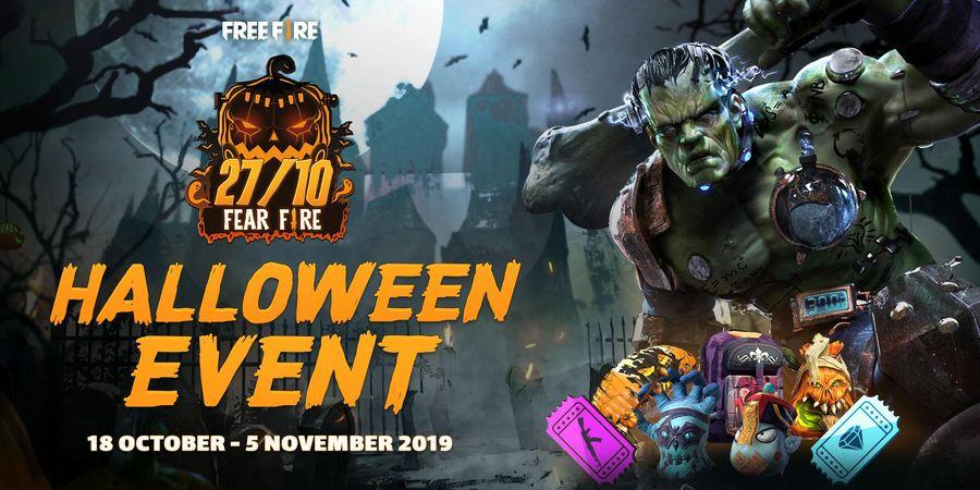 Main Free Fire dan Dapatkan Hadiah Eksklusif Halloween! Minggu Teror, Hadiah Horor