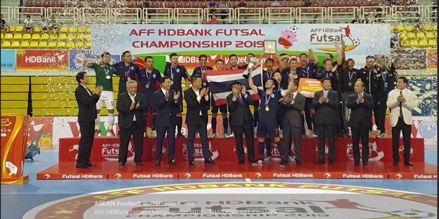 Daftar Juara Piala AFF Futsal - Thailand 15 Kali, Indonesia 1