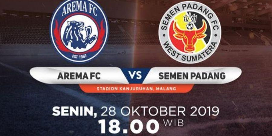 Link Live Streaming Arema FC Vs Semen Padang, Tim Tamu Waspadai Lini Depan Singo Edan