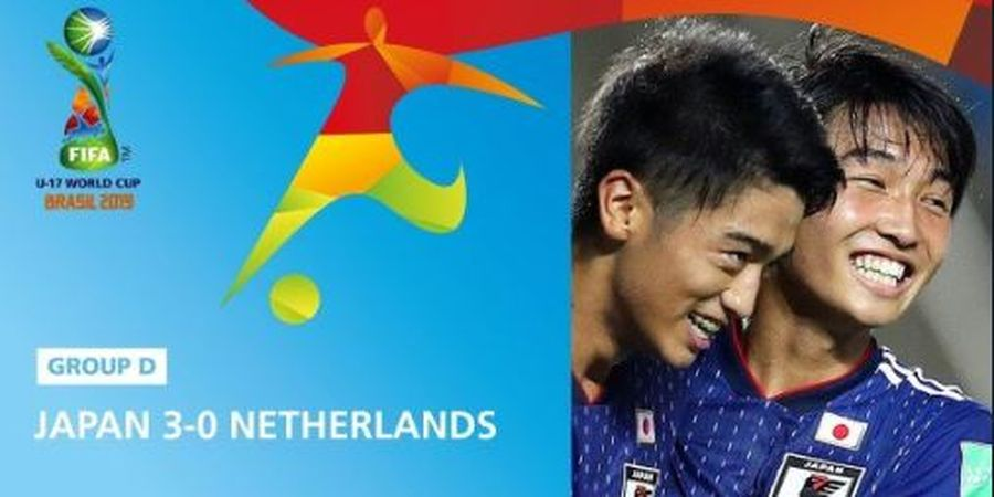 Kiprah Wakil Asia di Piala Dunia U-17 2019, Jepang Hajar Belanda 3-0