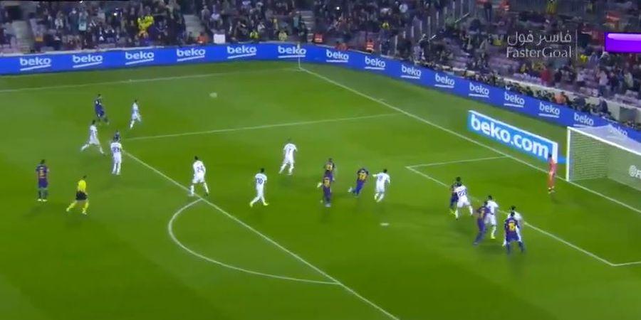 VIDEO - Umpan Pisang Lionel Messi Hadirkan Kekacauan, Barcelona Cetak Gol Menit 2