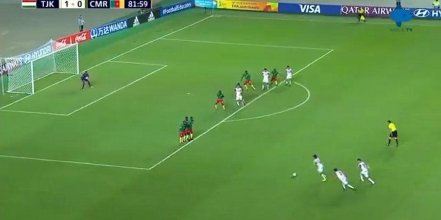 Fenomenal! Tim Tajikistan U-27 Ciptakan Teknik Tendangan Bebas Viral