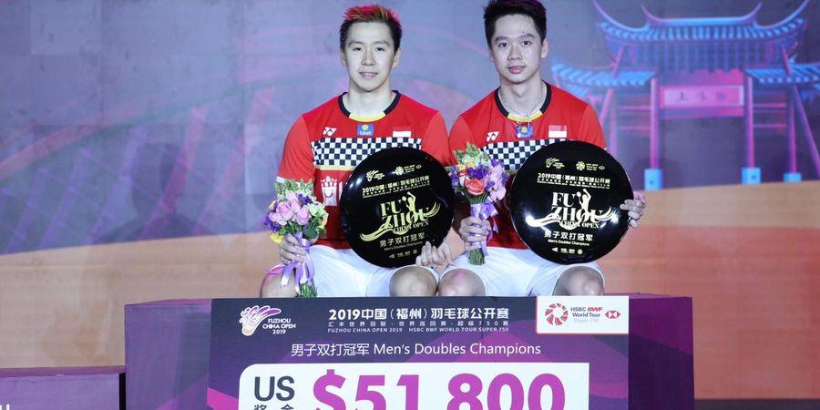 Rekap Final Fuzhou China Open 2019 - Marcus/Kevin Sukses Pertahankan Gelar