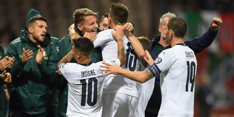 Hasil Kualifikasi Euro 2020 - Menang Telak, Italia Catatkan Hasil Sempurna