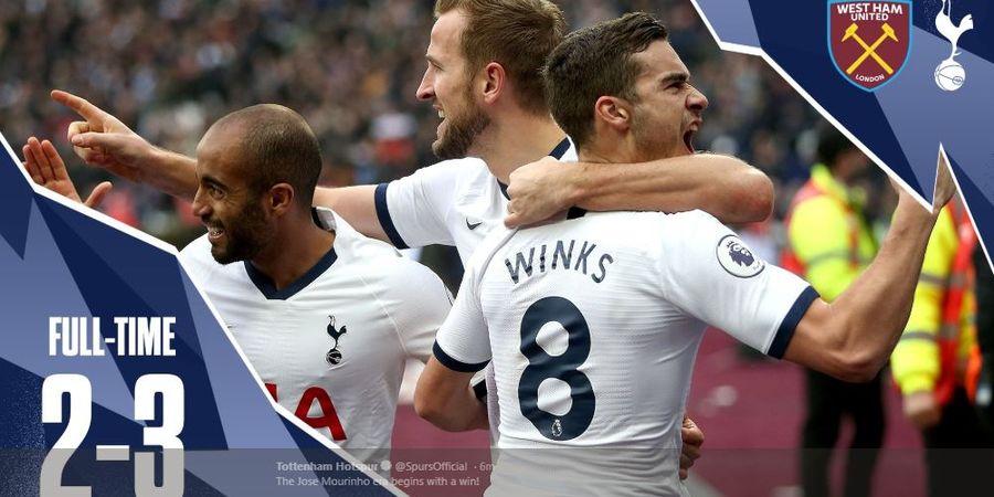 Hasil Liga Inggris - Menang Tipis, Tottenham Jaga Rekor Sempurna Mourinho