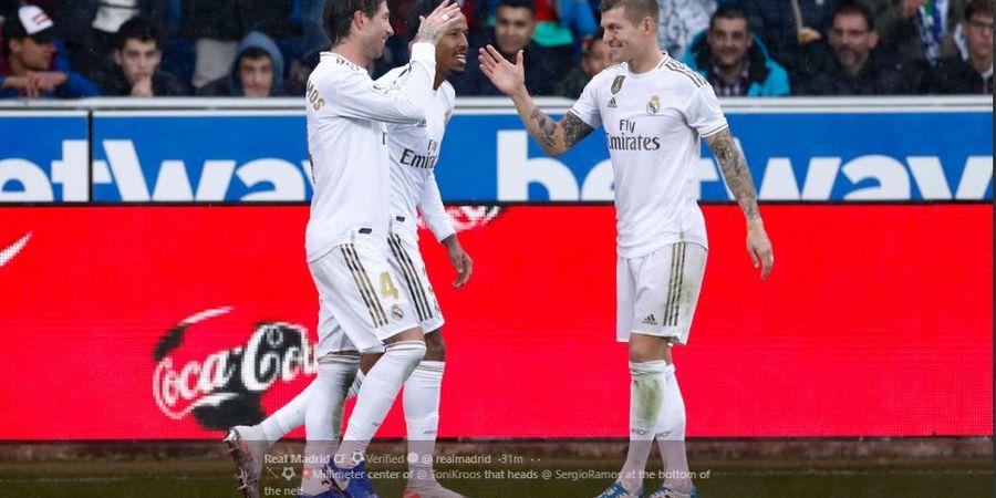 Hasil Liga Spanyol - Real Madrid Kudeta Barcelona Usai Menang Atas Alaves