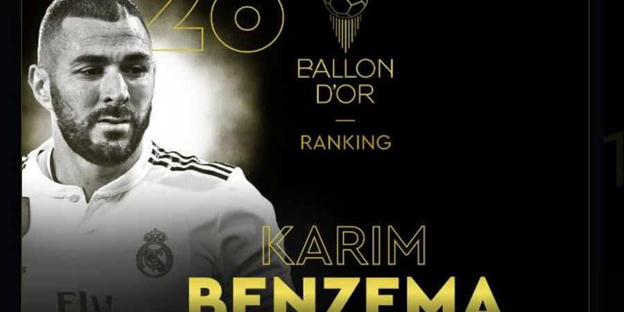 Ballon d Or 2019 - Karim Benzema Duduki Peringkat Ke-26