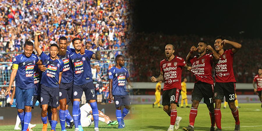 Link Live Streaming Arema FC Vs Bali United, Pekan 33 Liga 1 2019
