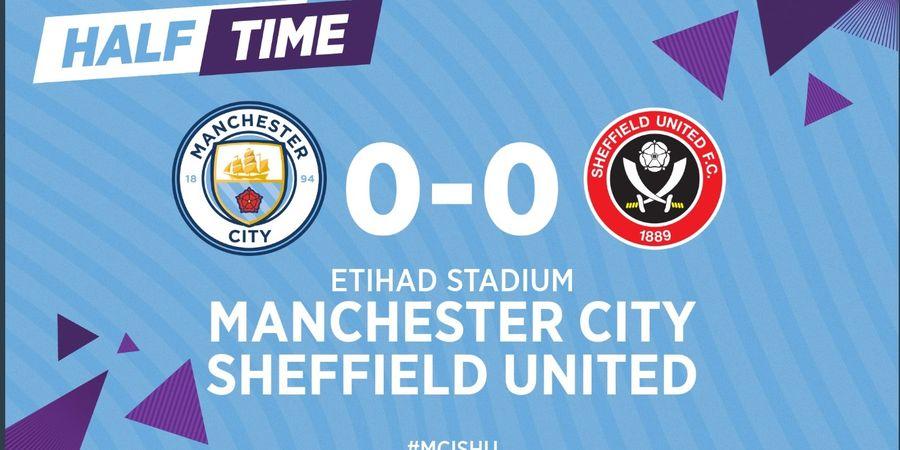 Babak I - Diselamatkan VAR, Manchester City Ditahan Sheffield United 0-0