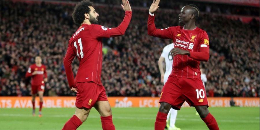 Hasil Liga Inggris - Salah dan Mane Bawa Liverpool Taklukkan Sheffield