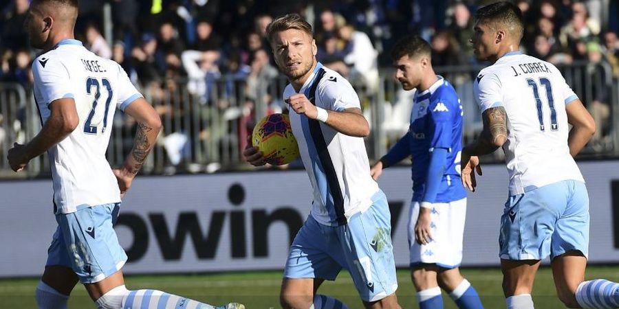Hasil Liga Italia - Hampir Ditahan Imbang Brescia, Immobile Jadi Pahlawan Lazio