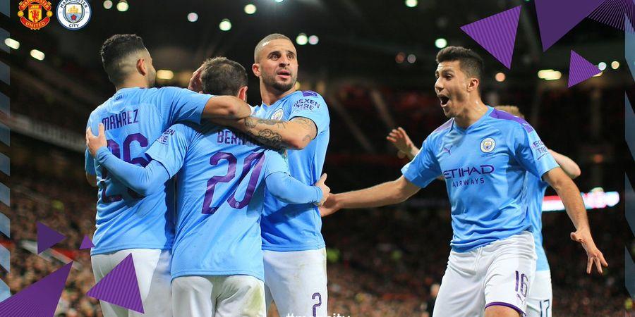 Hasil Piala Liga Inggris - Man City Hancurkan Man United di Old Trafford