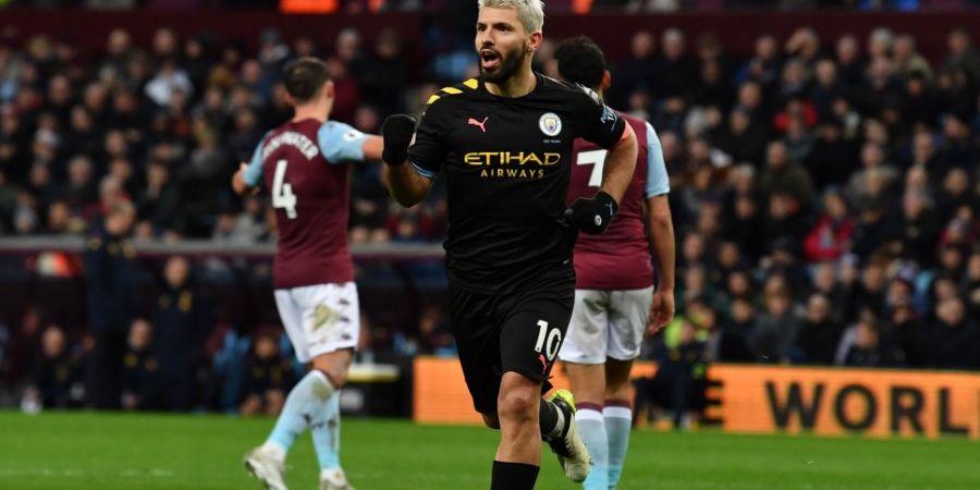Hasil Liga Inggris - Aguero Hat-trick, Man City Benamkan Aston Villa Setengah Lusin Gol