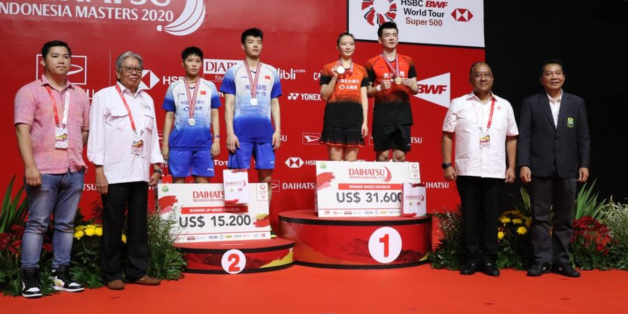 Indonesia Masters 2020  - Ganda Campuran China Ini Tetap Berjuang pada Final meski Terkena Usus Buntu