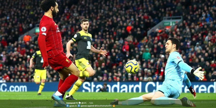 Hasil Liga Inggris - Mohamed Salah Brace, Liverpool Hajar Southampton