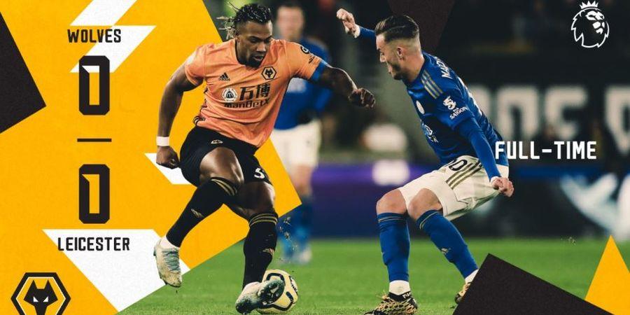 Hasil Liga Inggris - Diwarnai Kartu Merah, Wolves dan Leicester Terpaksa Berbagi Poin