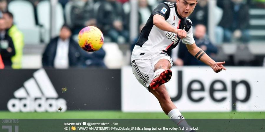 Babak I - Diwarnai Kartu Merah, Paulo Dybala Bawa Juventus Ungguli Brescia