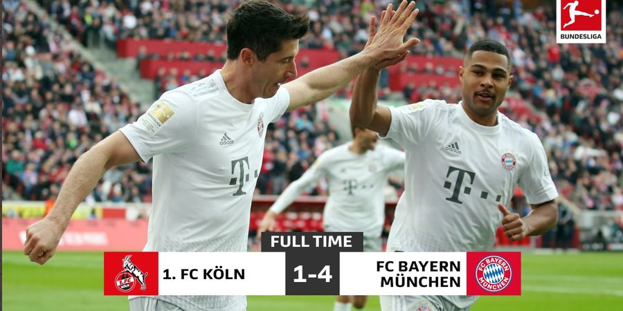 Hasil Lengkap - Cetak 3 Gol dalam 12 Menit, Bayern Muenchen Kembali ke Puncak