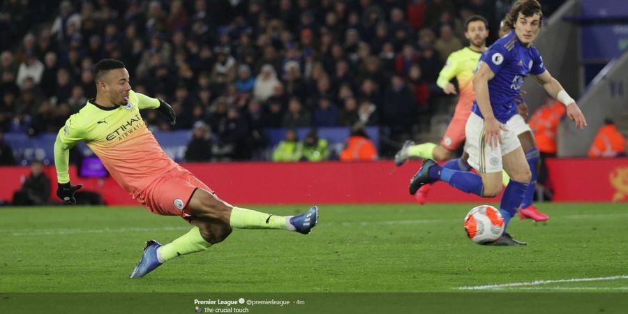 Hasil Liga Inggris - Diwarnai Gagal Penalti, Man City Kalahkan Leicester dengan Skor Tipis